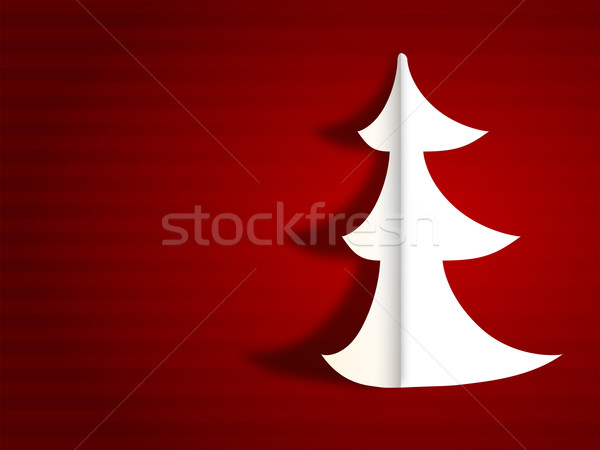 Modern merry christmas greeting card Stock photo © ShawnHempel