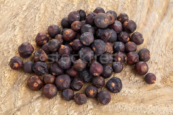 Heap of dried juniper berries Stock photo © ShawnHempel
