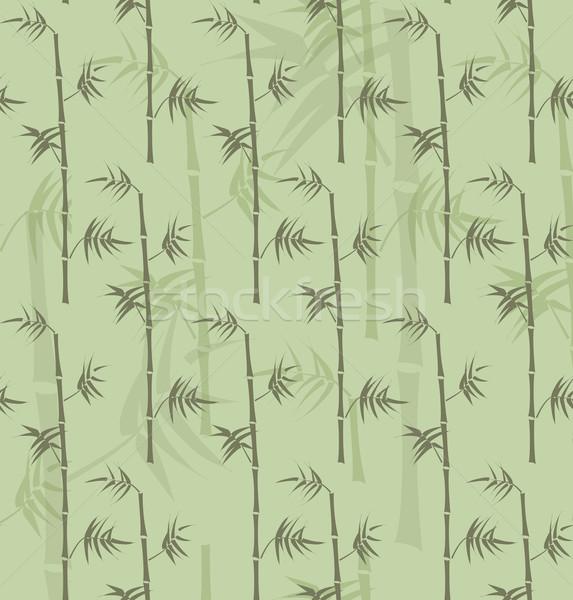 Bambusa tekstury bezszwowy zielone brązowy Zdjęcia stock © ShawnHempel