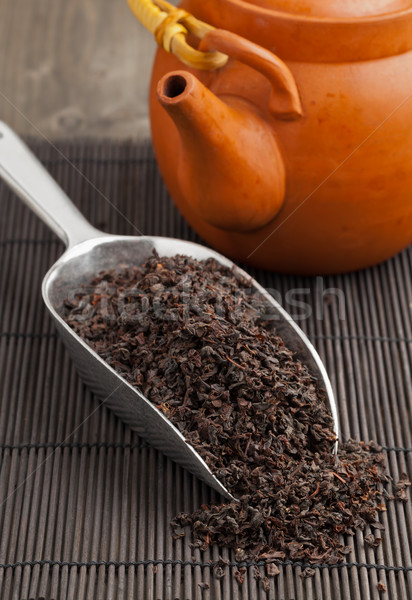 Nero tè ceylon metal raccogliere Foto d'archivio © ShawnHempel