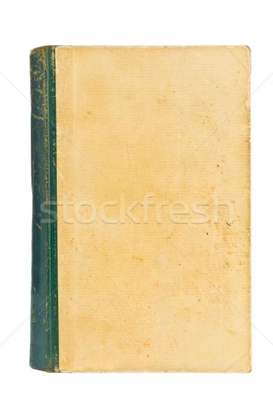 Oud boek oude hardcover boek geïsoleerd Stockfoto © ShawnHempel