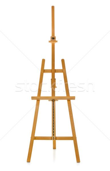 Sztaluga biały drewna edukacji malarstwo Zdjęcia stock © ShawnHempel