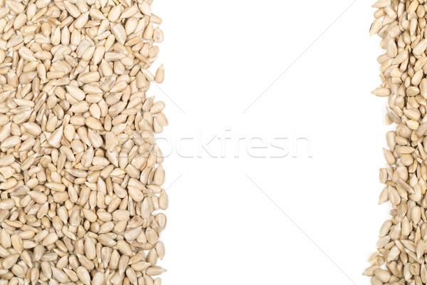 Natural sunflower seeds border Stock photo © ShawnHempel