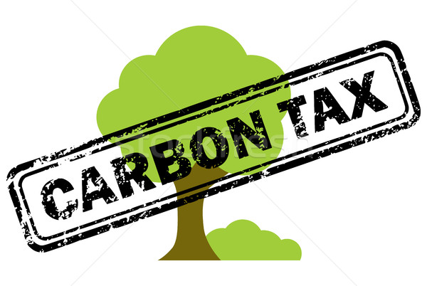 Carbon tax rubber stamp over tree icon Stock photo © ShawnHempel