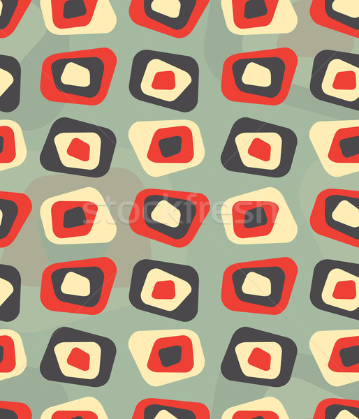 Modern colored curved rectangle pattern - tileable Stock photo © ShawnHempel