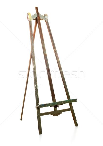 üres öreg fából készült festőállvány fehér fa Stock fotó © ShawnHempel