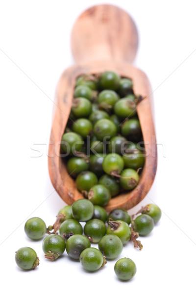 Green peppercorns Stock photo © ShawnHempel