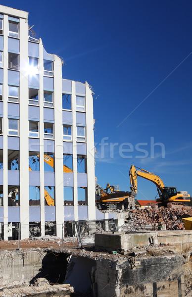 Edifício demolição casa cidade trabalhar Foto stock © ShawnHempel