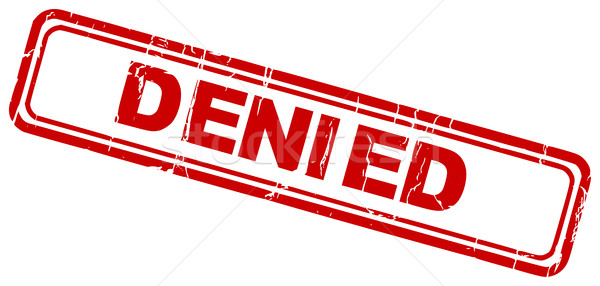 Red grungy denied rubber stamp icon isolated Stock photo © ShawnHempel