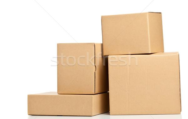 Bruin levering karton dozen Stockfoto © ShawnHempel