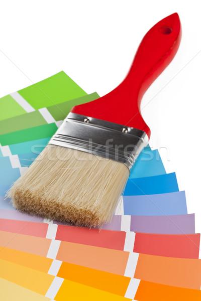 Color tabla orientar cepillo blanco libro Foto stock © ShawnHempel
