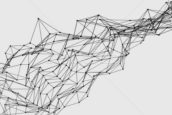 Abstract three dimensional polygon wireframe network structure  Stock photo © ShawnHempel
