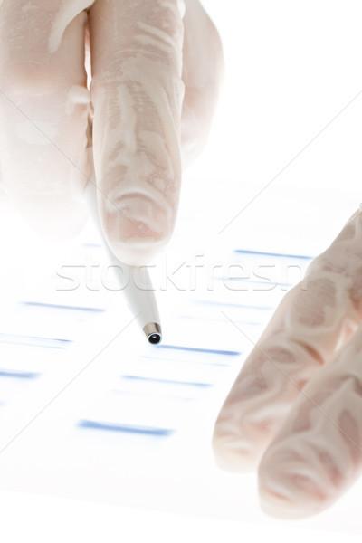 DNS átláthatóság kutató megvizsgál csúszda kezek Stock fotó © ShawnHempel