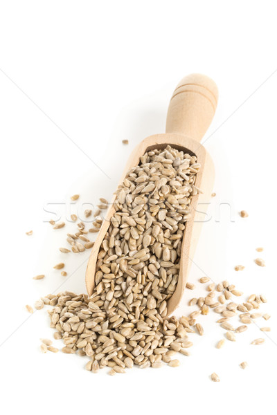 Shelled sunflower seeds in wooden scoop Stock photo © ShawnHempel