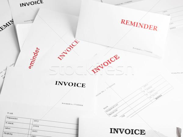 Financieros numeroso factura recordatorio cartas papel Foto stock © ShawnHempel