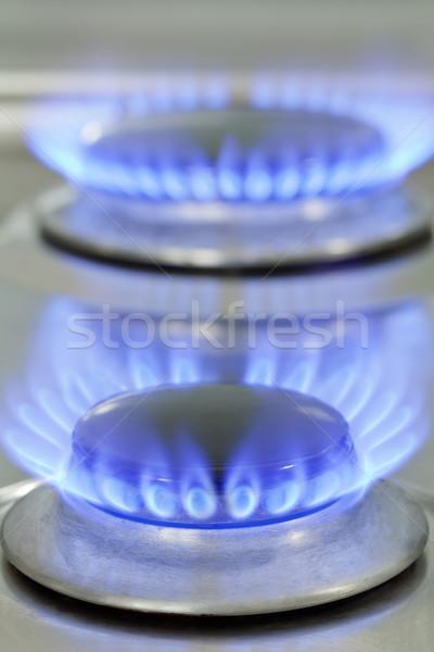 газ печи Природный газ пламя сжигание Сток-фото © ShawnHempel