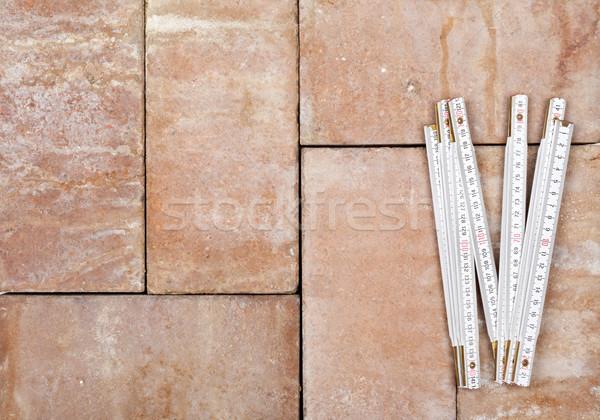 ルール オープン 白 レンガ 背景 階 ストックフォト © ShawnHempel