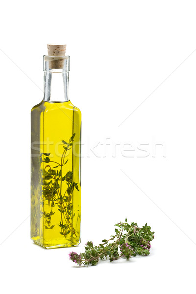 Thyme infused olive oil Stock photo © ShawnHempel