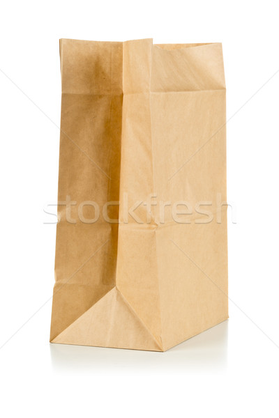 Carta marrone bag bianco clean carta Foto d'archivio © ShawnHempel
