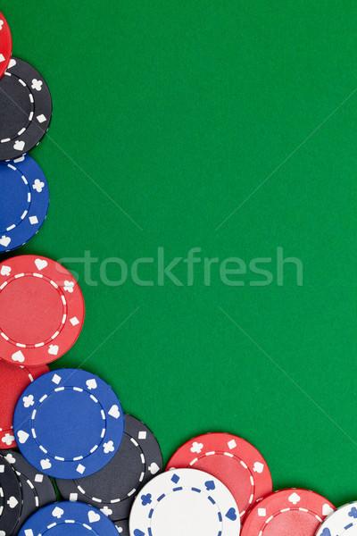 фишки казино различный зеленый таблице копия пространства цвета Сток-фото © ShawnHempel