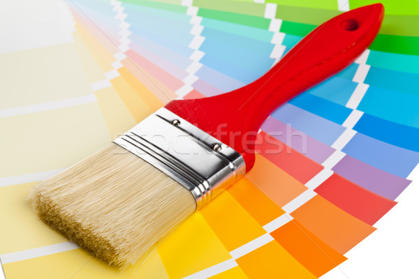 Color chart guide with brush Stock photo © ShawnHempel