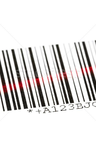 Kodów kreskowych cyfrowe laserowe biały działalności komputera Zdjęcia stock © ShawnHempel
