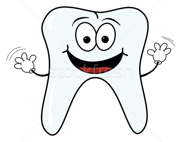 Happy tooth character Stock photo © ShawnHempel