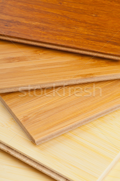 Bamboo laminate flooring close up Stock photo © ShawnHempel