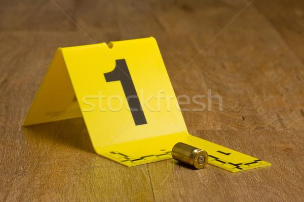 Bewijzen fiche bullet vloer brieven Stockfoto © ShawnHempel