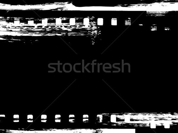 Paint brush grunge film strip frame Stock photo © ShawnHempel
