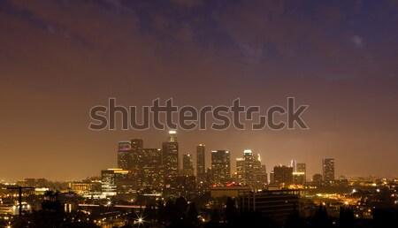 Los Angeles nacht tijd panorama centrum stad Stockfoto © ShawnHempel