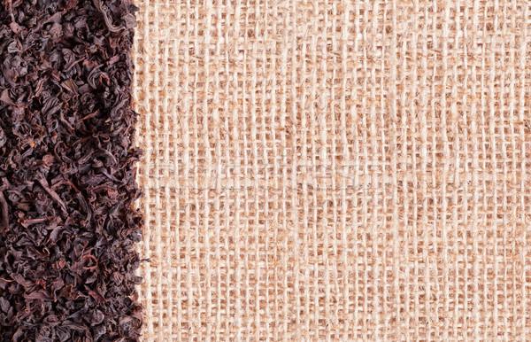 Fekete tea termény Ceylon zsákvászon háttér Stock fotó © ShawnHempel