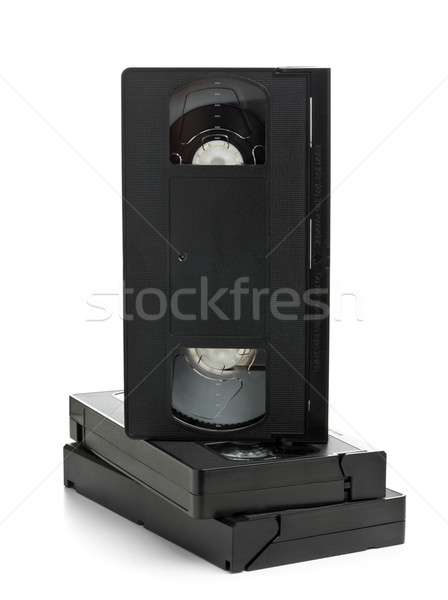 Stack of video home system movie cassettes Stock photo © ShawnHempel