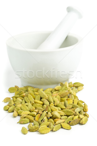 Kardemom zaad witte voedsel keuken groene Stockfoto © ShawnHempel