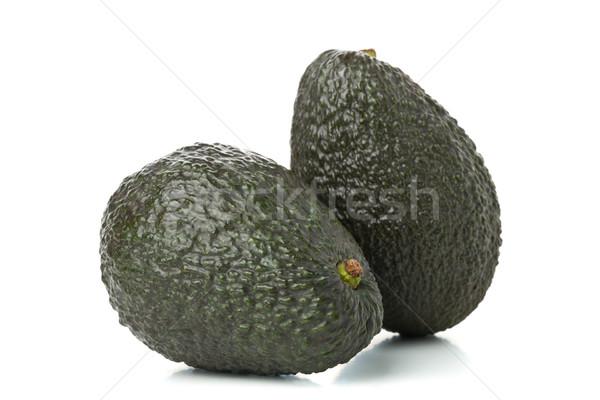Stock fotó: Kettő · egész · érett · avokádó · gyümölcs · fehér