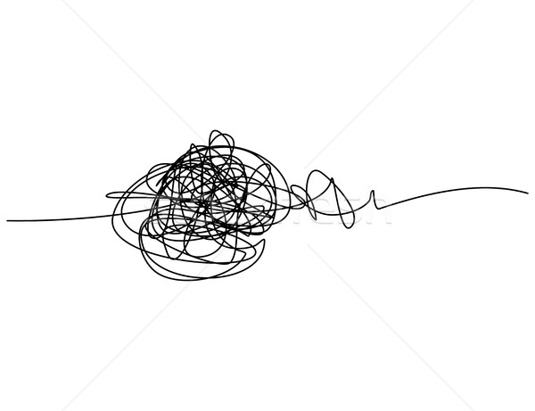 Chaotic hand drawn scribble sketch circle with start and end iso Stock photo © ShawnHempel
