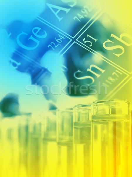 Chemie onderzoek test periodiek communie Stockfoto © ShawnHempel