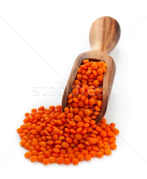 Red lentils on scoop Stock photo © ShawnHempel