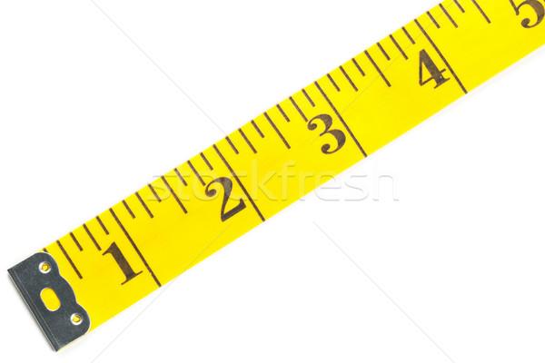 黄色 白 測定 テープ ストックフォト © ShawnHempel