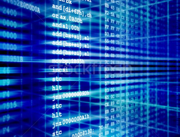 Codice computer programma internet tecnologia software Foto d'archivio © ShawnHempel