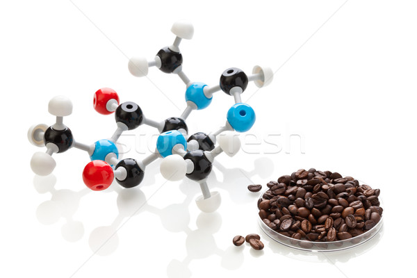 Caffeine molecule with coffee beans Stock photo © ShawnHempel