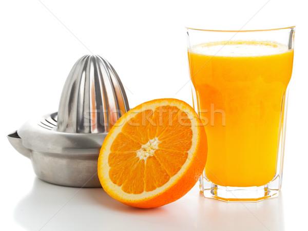 Sok pomarańczowy szkła pomarańczowy Zdjęcia stock © ShawnHempel