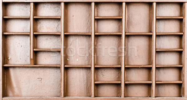 Empty wooden brown painted seed or letters or collectibles box  Stock photo © ShawnHempel