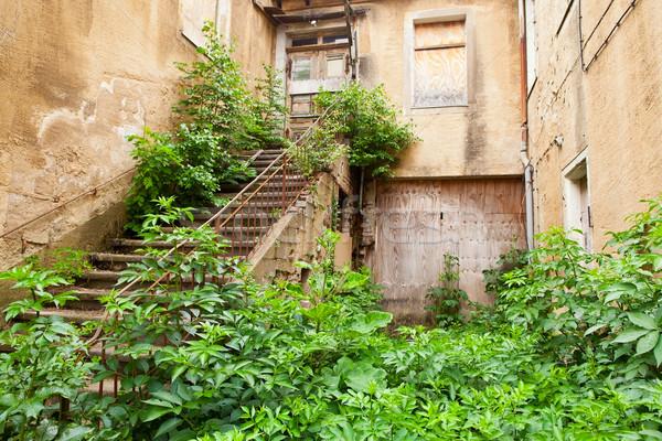Törött lefelé ház rom város épület Stock fotó © ShawnHempel
