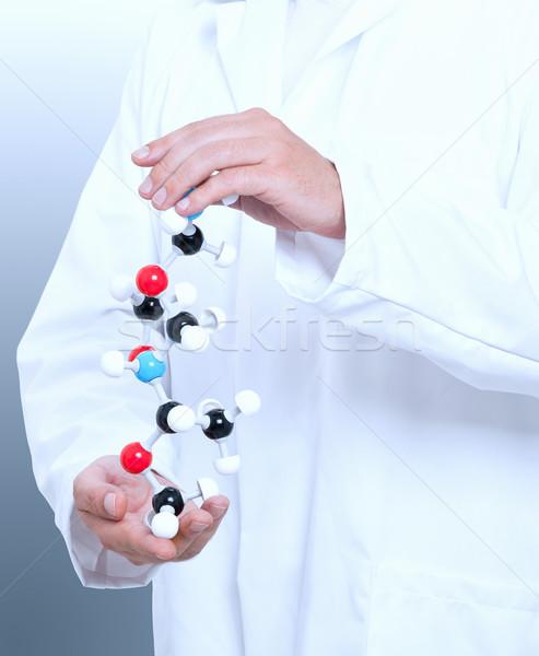 Stock photo: Chemist with molecule