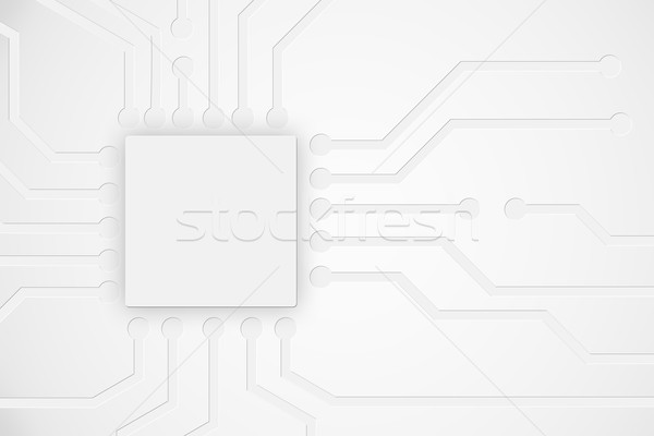 Modern abstract technology background with electronics circuit b Stock photo © ShawnHempel