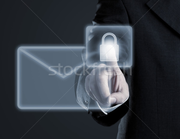 Secure email concept on virtual touch screen Stock photo © ShawnHempel