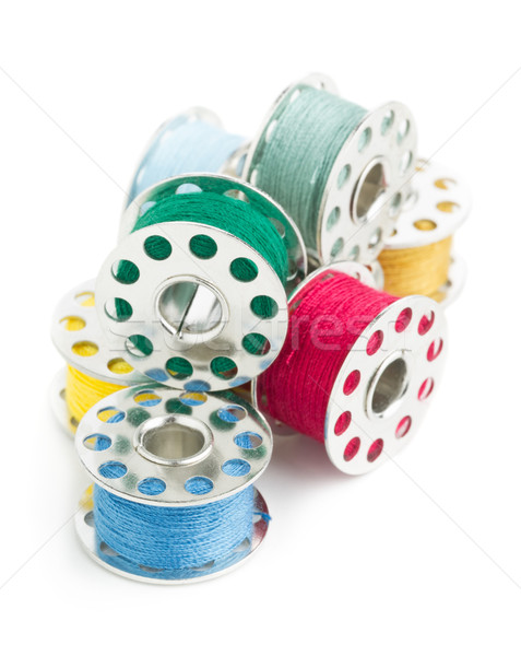 Stock photo: Sewing yarn spools