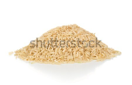 Heap of uncooked natural brown rice  Stock photo © ShawnHempel
