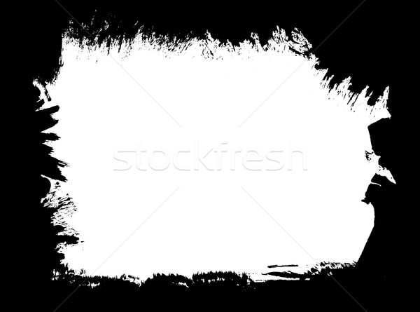 Paint brush grunge border frame Stock photo © ShawnHempel